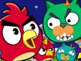 Игра Злые Птички и Коты Мяу