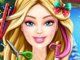 Игра Новогодняя Стрижка Барби