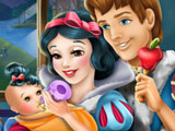 Snow White Feeds Baby