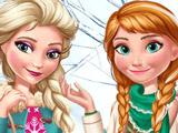 Игра Зимняя Мода Эльзы и Анны