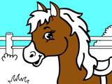 Игра Раскраска для Малышей: Лошадка