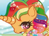 Разноцветный Единорог - Одевалка