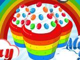 Игра Готовим Еду: Кексы Радуга