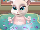 Игра Кошка Анжела в Ванной