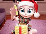 Кошка Анжела и Подарок: Пазл
