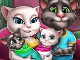 Игра Анжела и Том: Уход за Близнецами