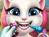 Игра Кошка Анжела у Дантиста