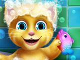 Игра Малыш Рыжик в Ванной