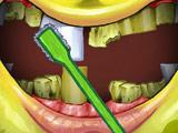 Игра Губка Боб Чистит Зубы