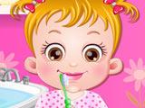 Малышка Хейзел Чистит Зубы