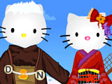 Игра Оденьте Китти и Котика
