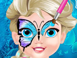 Рисуем Бабочку на Лице Малышки Эльзы
