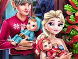 Игра Семейное Рождество Эльзы