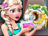 Игра Эльза и Грязная Посуда