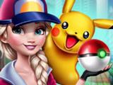 Игра Эльза Играет в Покемон Go