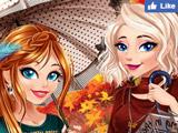 Игра Осенняя Мода Сестер Анны и Эльзы