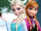 Игра Эльза и Анна на Коньках