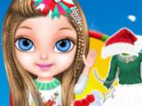 Игра Рождество с Малышкой Барби