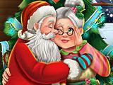 Игра Поцелуи Санта Клауса