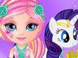Игра Малышка Барби и Пони 2