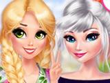 Игра Цветочная Мода Эльзы и Рапунцель