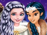 Игра Принцессы Катаются на Коньках