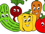 Игра Раскрась Овощи