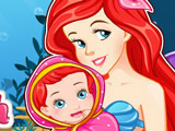 Mermaid Ariel gives birth to baby