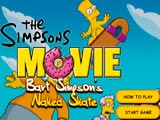 The Simpsons: Naked Bart on the Skateboard
