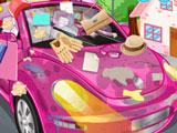 Игра Уборка в Розовой Машине