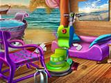 Игра Уборка в Пляжном Домике