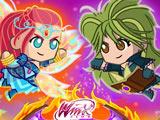 Сражение Мини - Винкс и Трикс