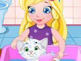Игра Малышка Соня и Кошка