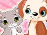 Игра Кошка и Собака - Друзья