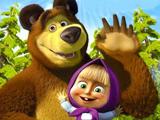 Игра Пазлы Маша и Медведь