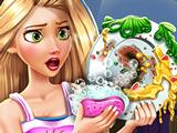 Игра Рапунцель Моет Посуду