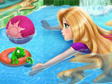 Игра Рапунцель в Бассейне
